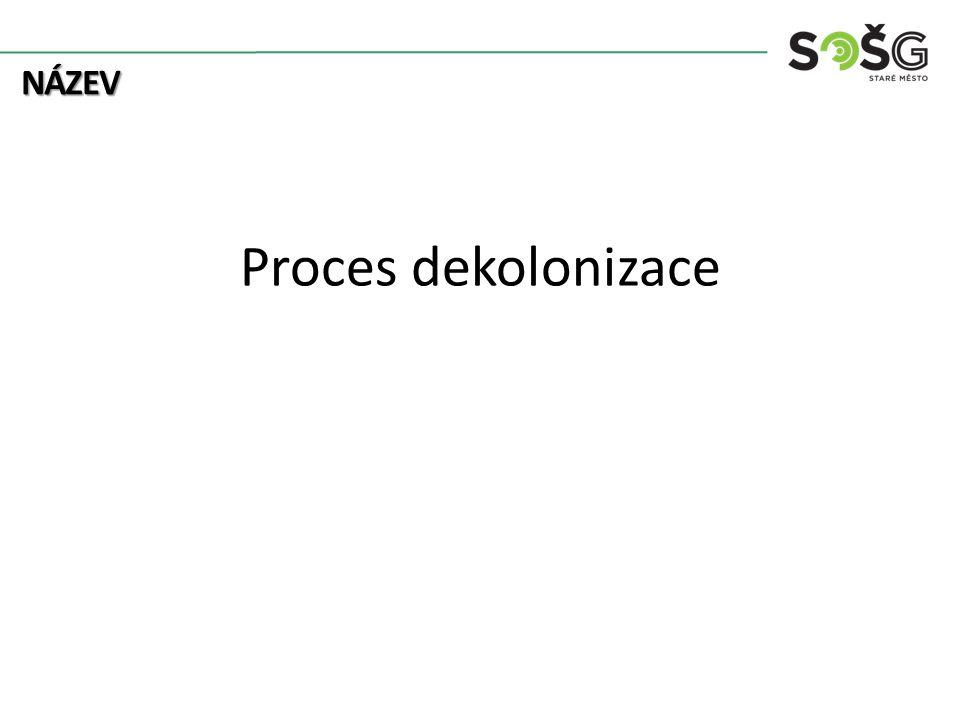 název Proces dekolonizace