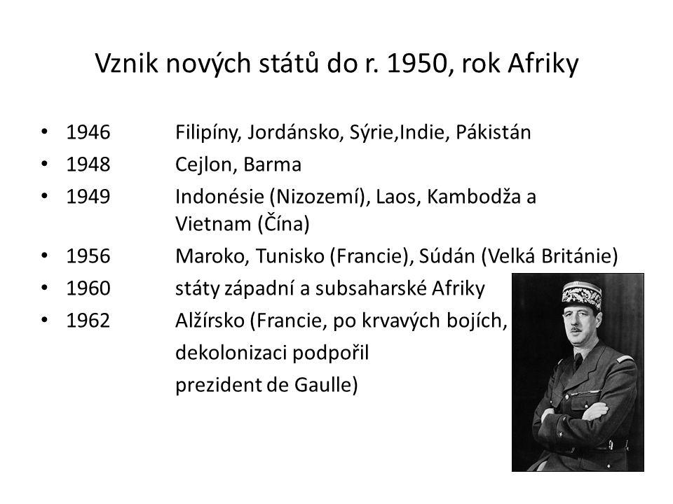 Vznik nových států do r. 1950, rok Afriky