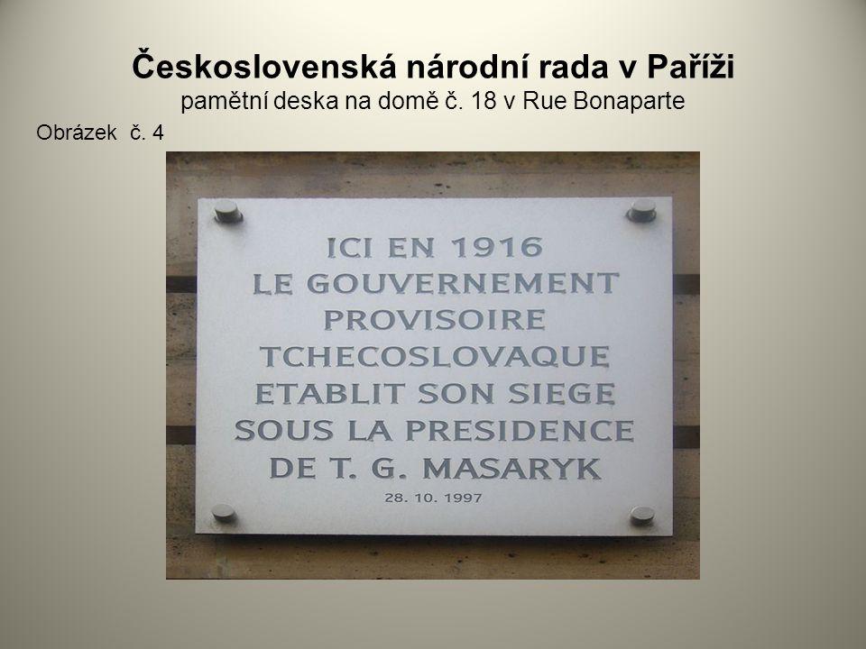 Československá národní rada v Paříži pamětní deska na domě č
