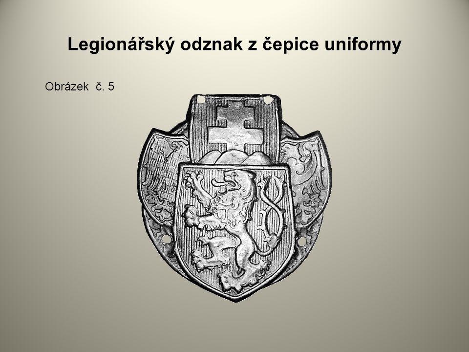Legionářský odznak z čepice uniformy