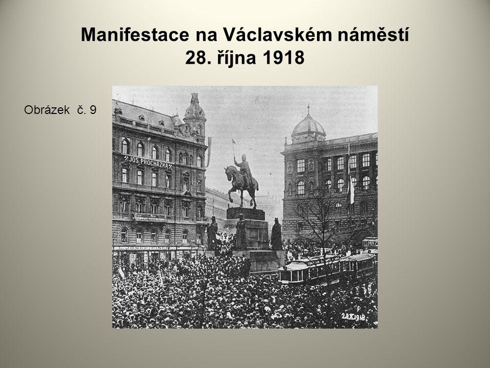 Manifestace na Václavském náměstí 28. října 1918