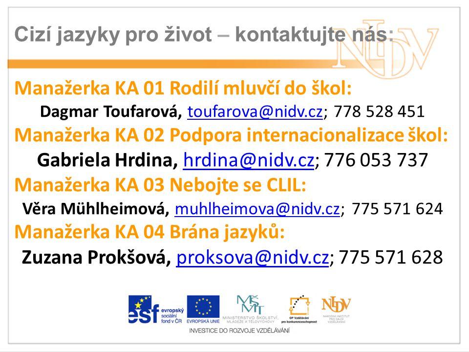 Cizí jazyky pro život – kontaktujte nás: