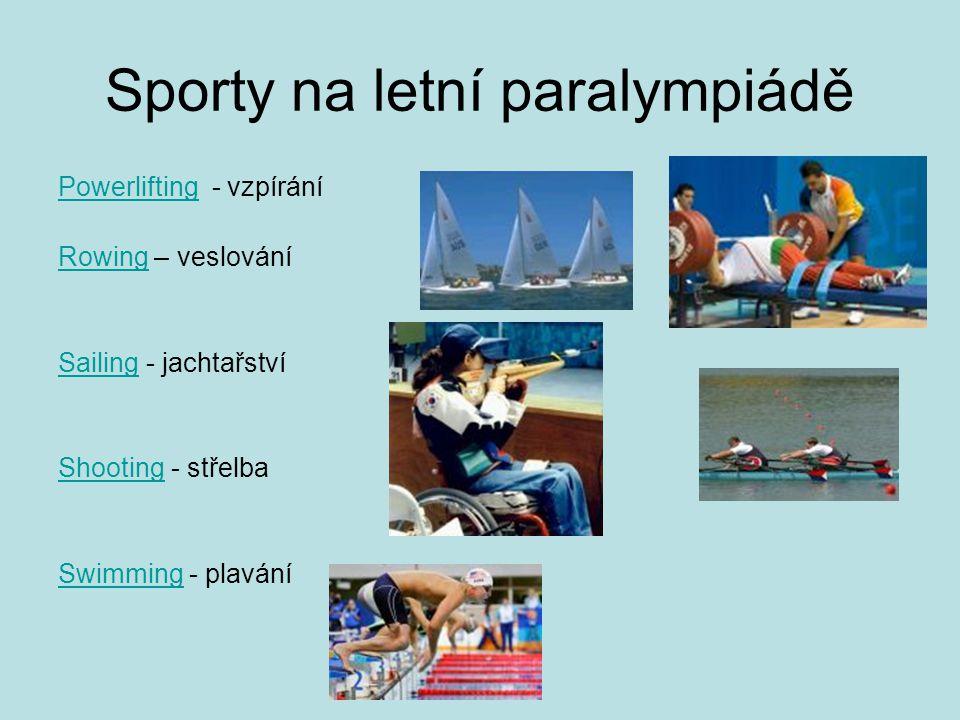 Sporty na letní paralympiádě