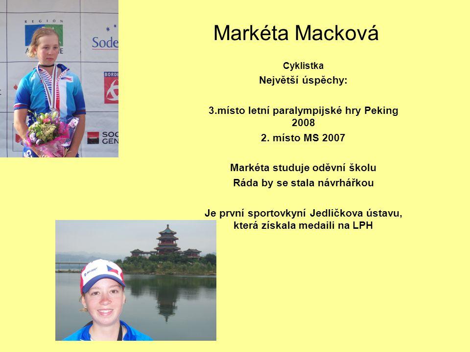 Markéta Macková Největší úspěchy: