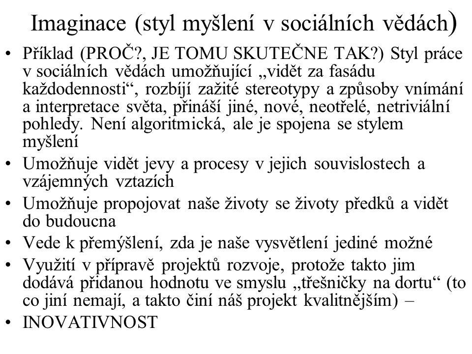 Imaginace (styl myšlení v sociálních vědách)