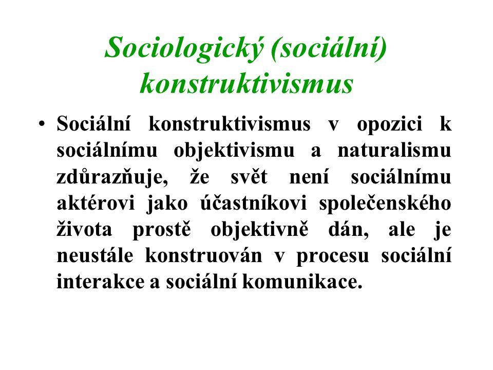 Sociologický (sociální) konstruktivismus