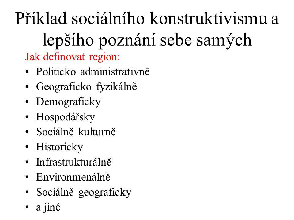 Příklad sociálního konstruktivismu a lepšího poznání sebe samých