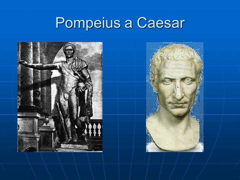 Pompeius a Caesar