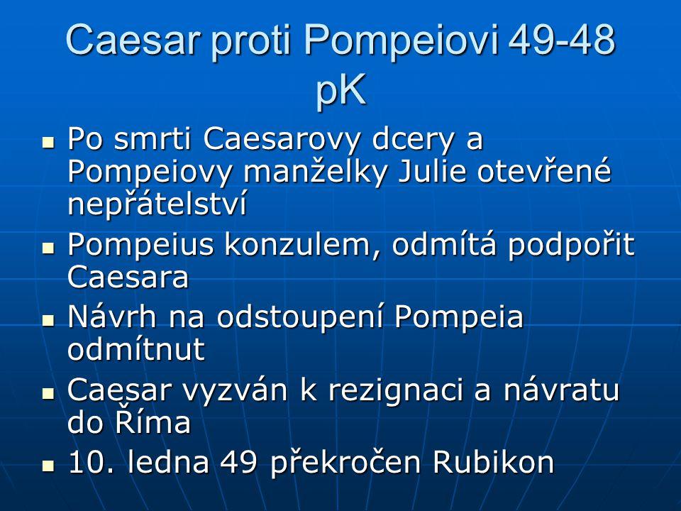 Caesar proti Pompeiovi 49-48 pK