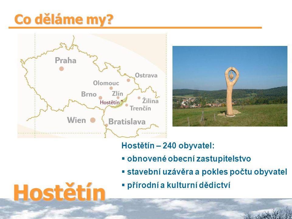 Hostětín Co děláme my Hostětín – 240 obyvatel: