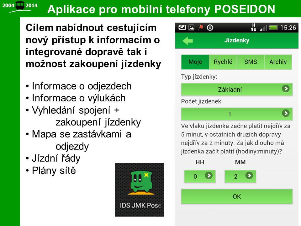 Aplikace pro mobilní telefony POSEIDON