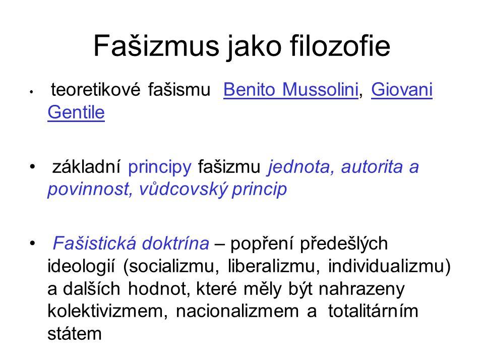 Fašizmus jako filozofie