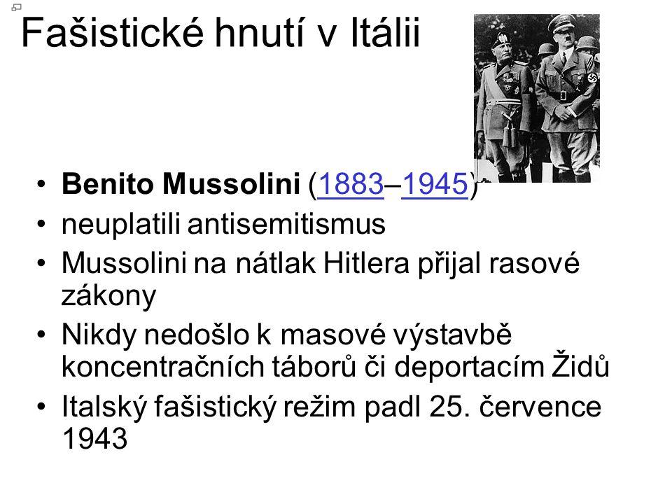 Fašistické hnutí v Itálii