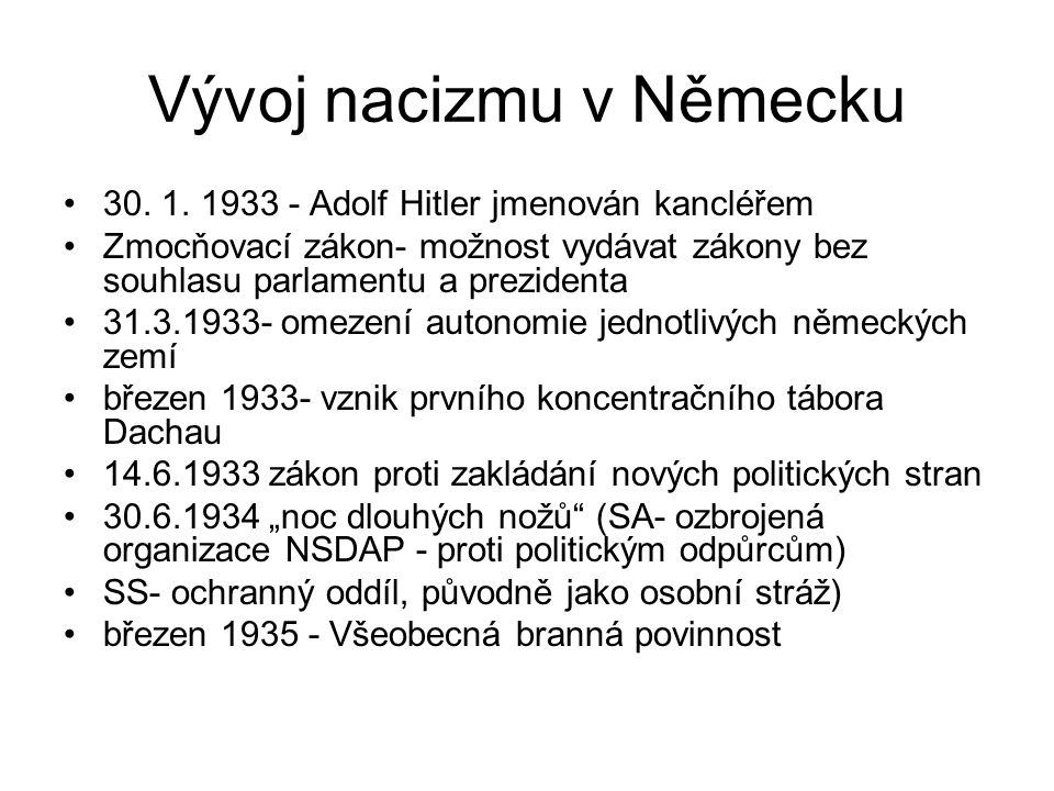 Vývoj nacizmu v Německu