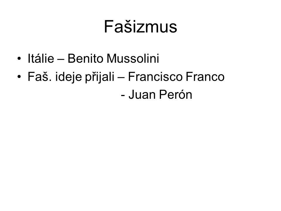 Fašizmus Itálie – Benito Mussolini