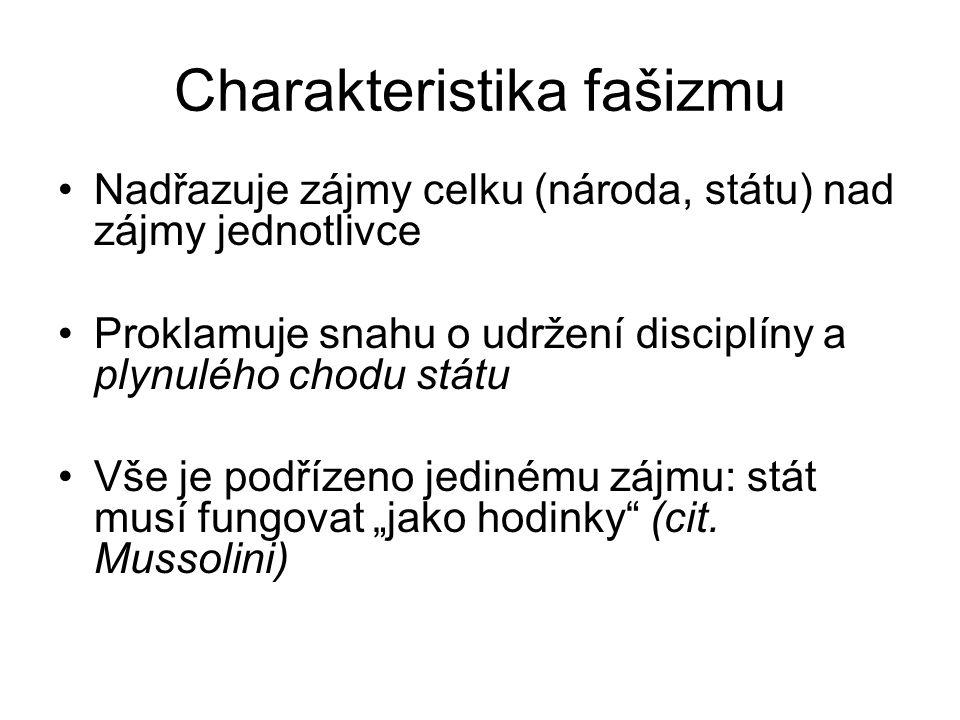 Charakteristika fašizmu