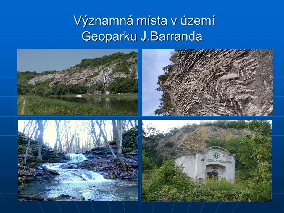 Významná místa v území Geoparku J.Barranda