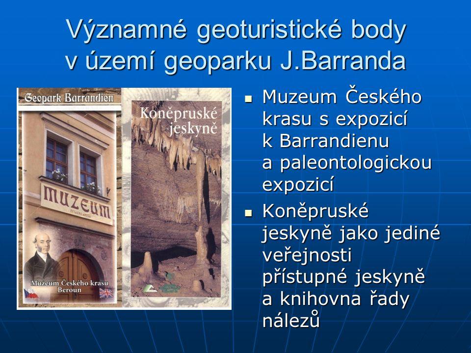 Významné geoturistické body v území geoparku J.Barranda