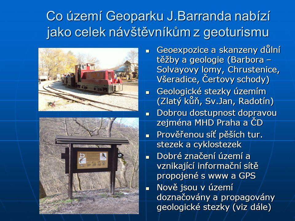 Co území Geoparku J.Barranda nabízí jako celek návštěvníkům z geoturismu