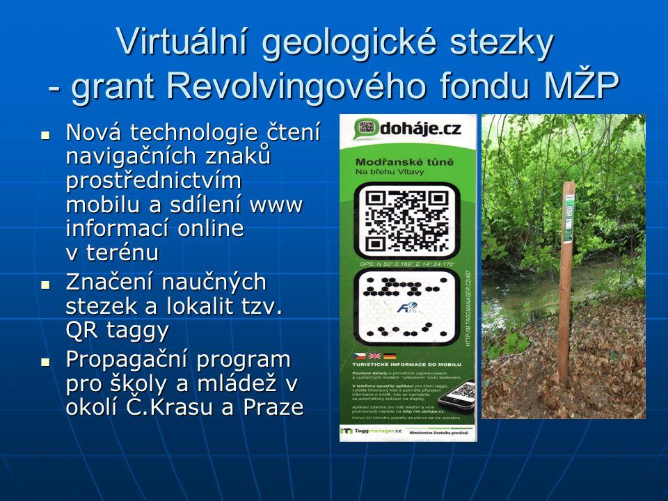 Virtuální geologické stezky - grant Revolvingového fondu MŽP