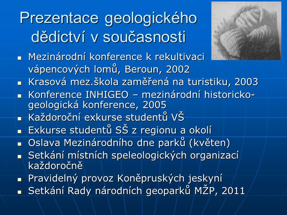 Prezentace geologického dědictví v současnosti