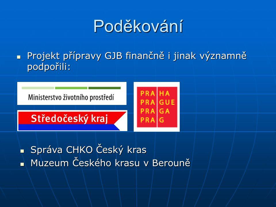 Poděkování Projekt přípravy GJB finančně i jinak významně podpořili: