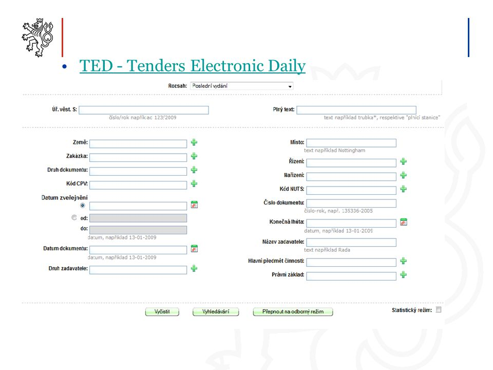 TED - Tenders Electronic Daily