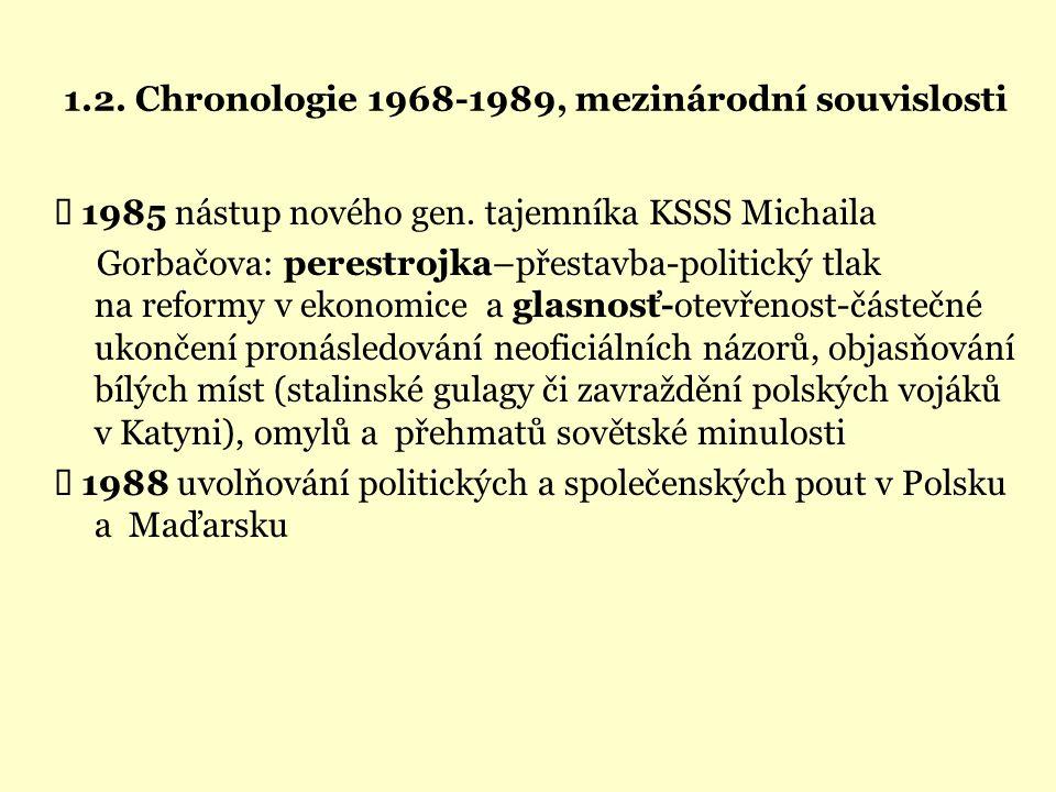 1.2. Chronologie 1968-1989, mezinárodní souvislosti