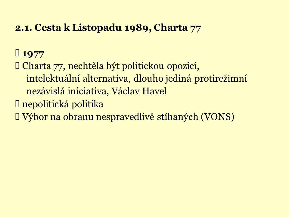 2.1. Cesta k Listopadu 1989, Charta 77 Ü 1977
