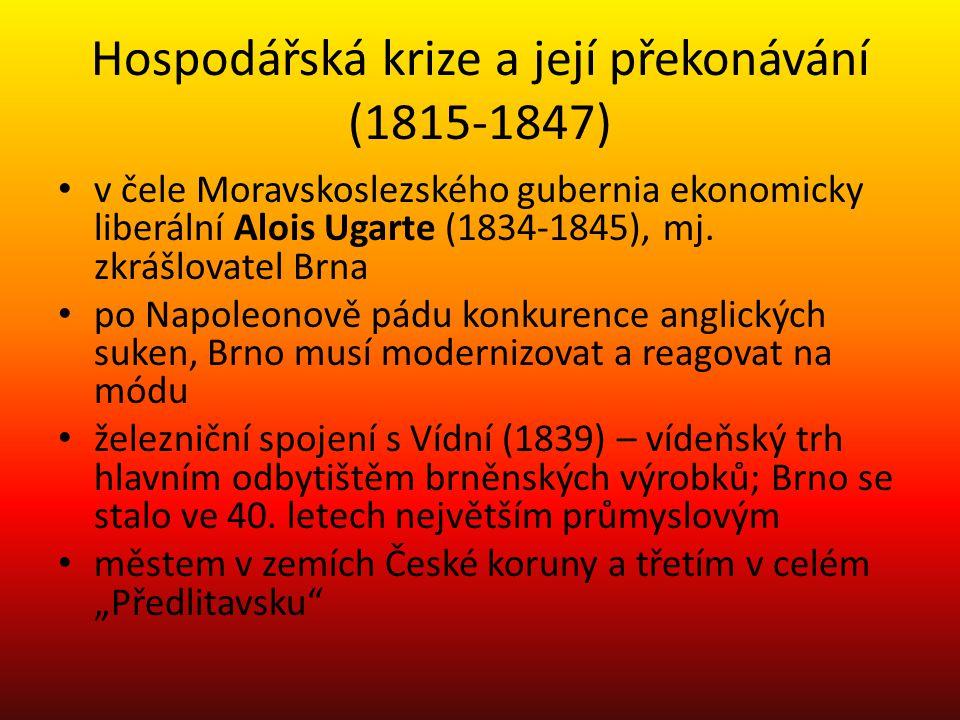 Hospodářská krize a její překonávání (1815-1847)