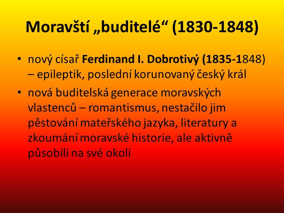 """Moravští """"buditelé (1830-1848)"""