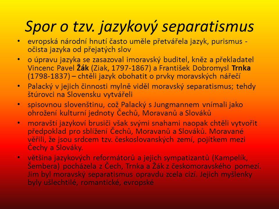Spor o tzv. jazykový separatismus