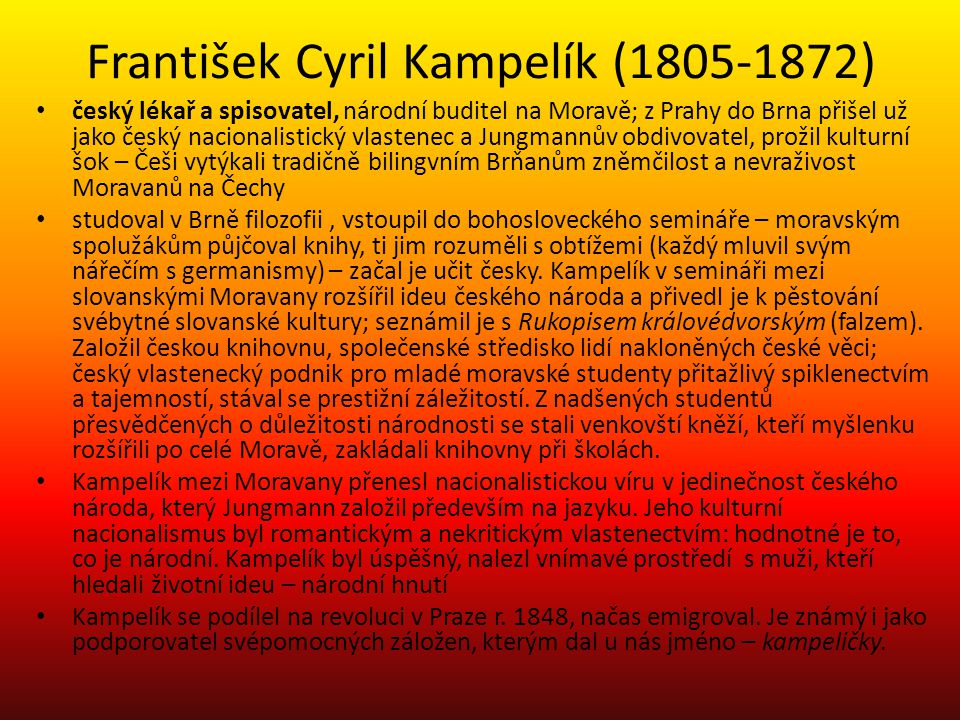 František Cyril Kampelík (1805-1872)