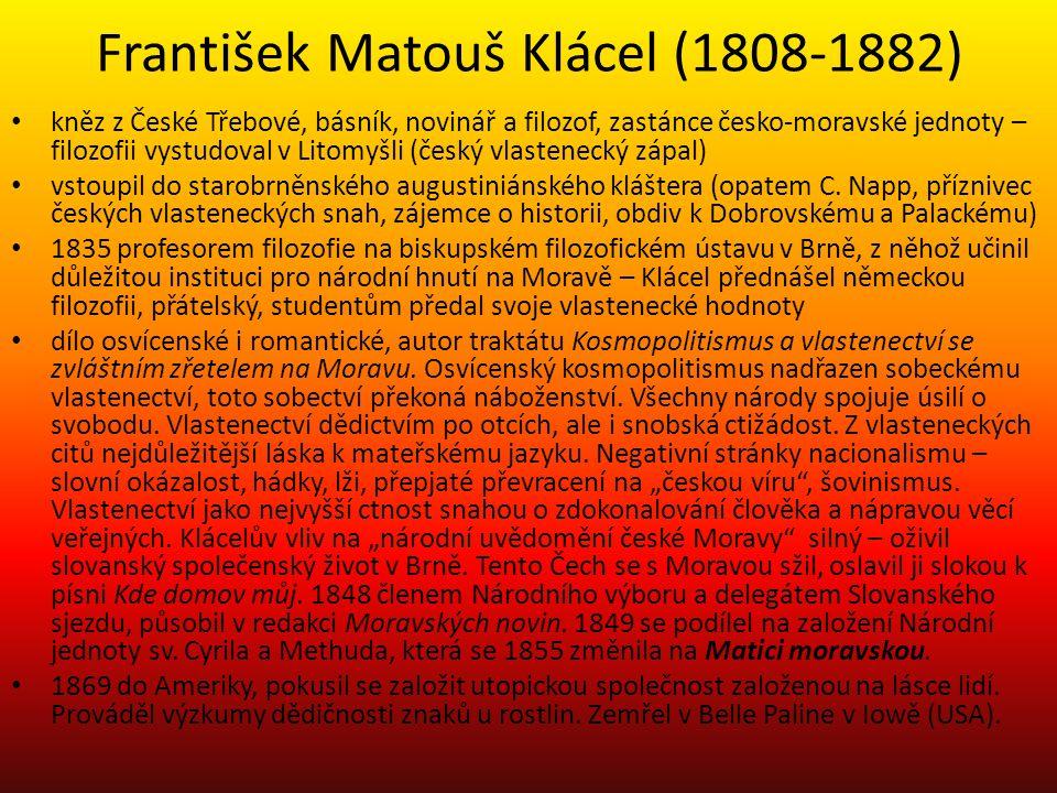 František Matouš Klácel (1808-1882)