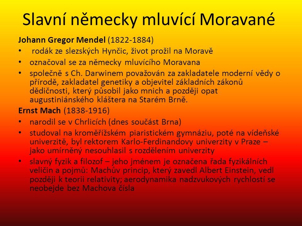 Slavní německy mluvící Moravané