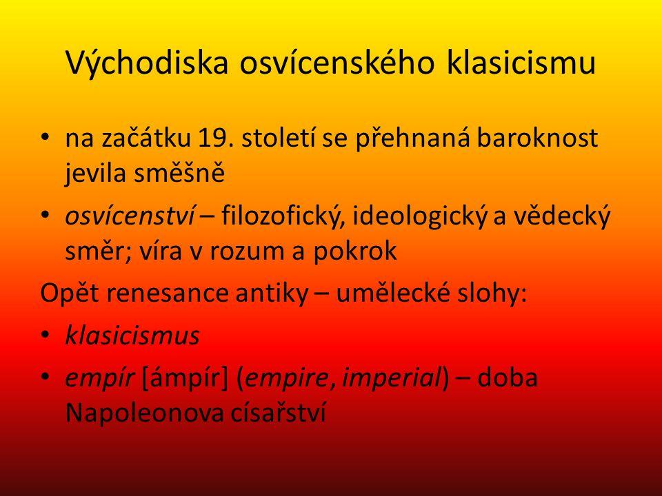 Východiska osvícenského klasicismu