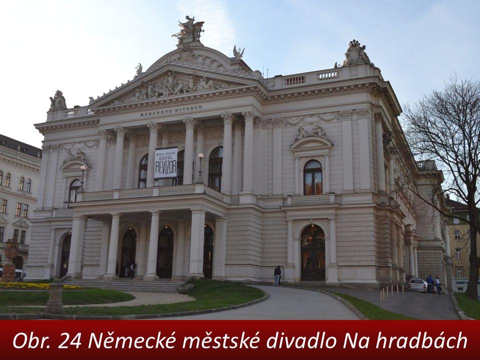 Obr. 24 Německé městské divadlo Na hradbách