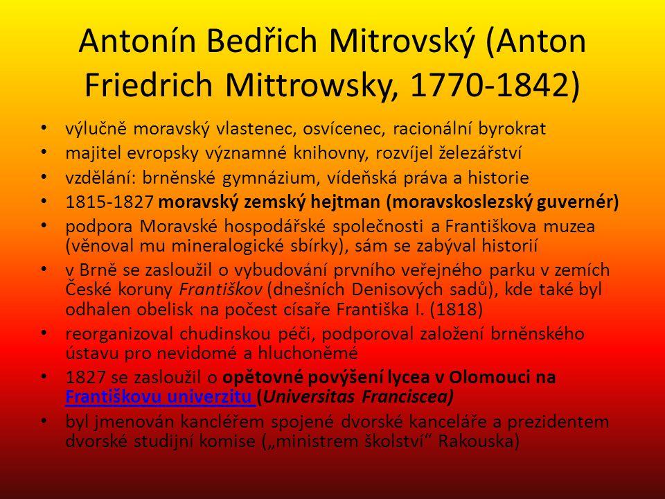 Antonín Bedřich Mitrovský (Anton Friedrich Mittrowsky, 1770-1842)