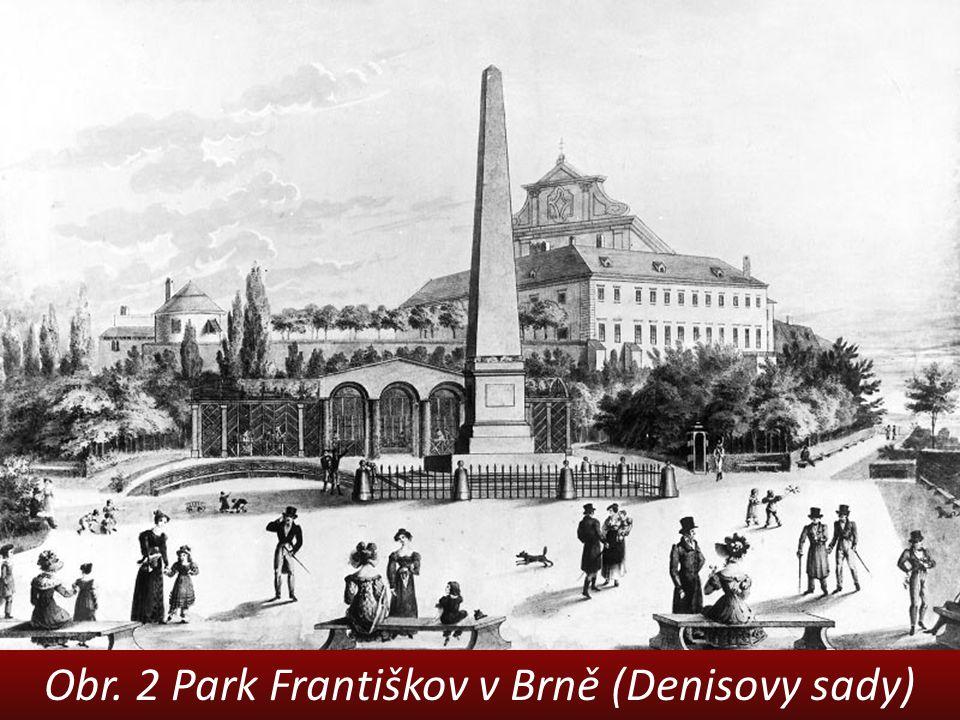 Obr. 2 Park Františkov v Brně (Denisovy sady)