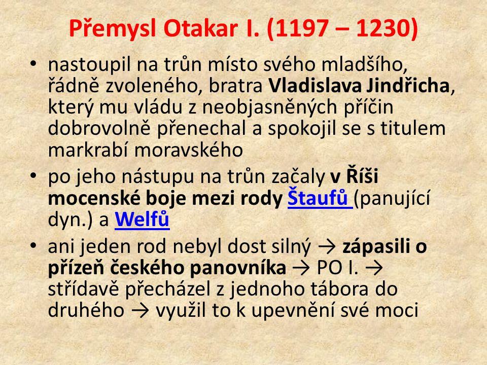 Přemysl Otakar I. (1197 – 1230)