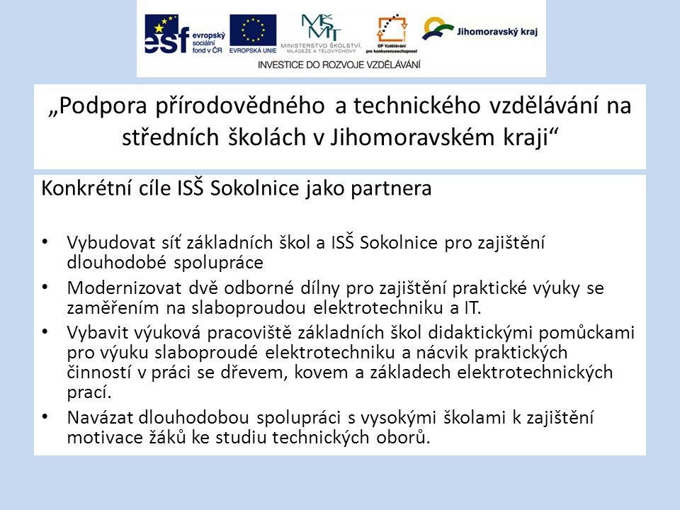 """""""Podpora přírodovědného a technického vzdělávání na středních školách v Jihomoravském kraji"""