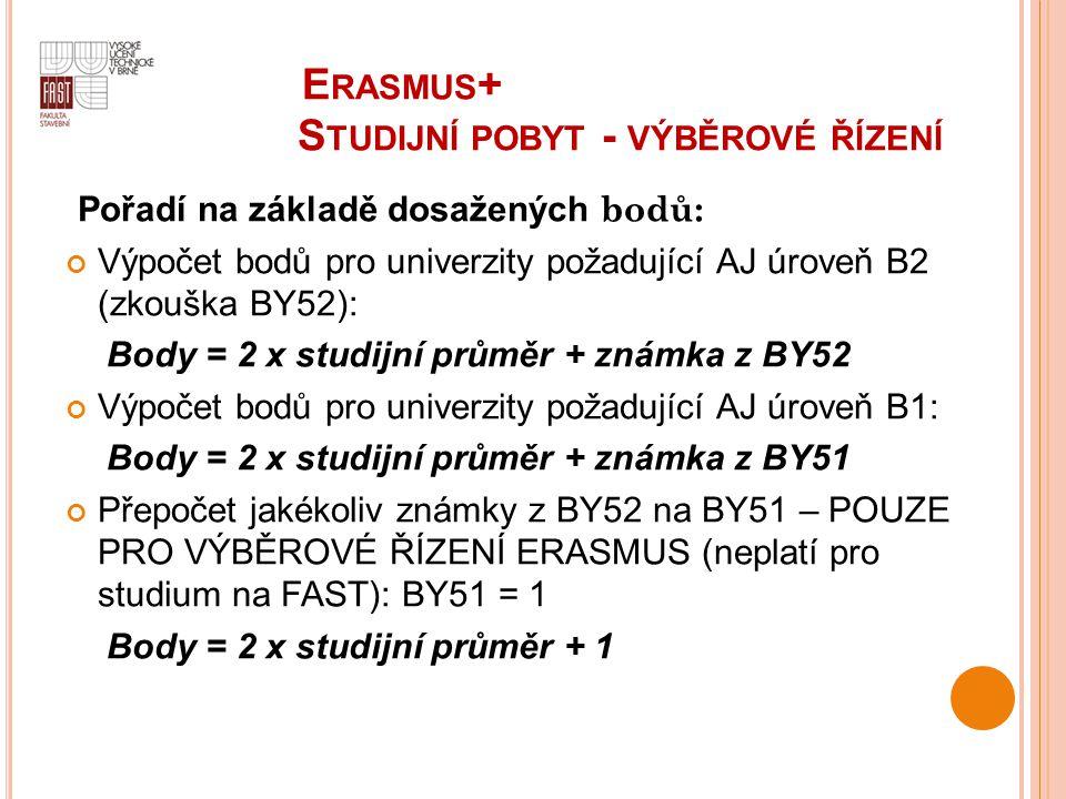 E Erasmus+ Studijní pobyt - výběrové řízení