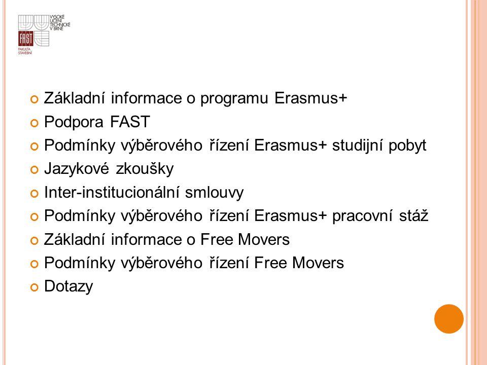 Základní informace o programu Erasmus+