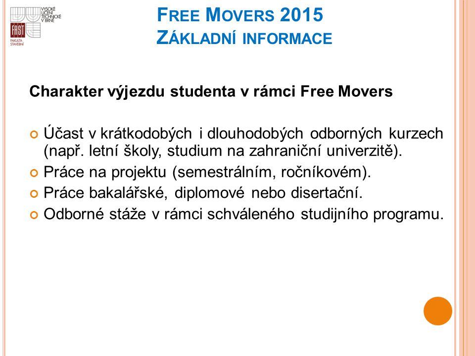 Free Movers 2015 Základní informace