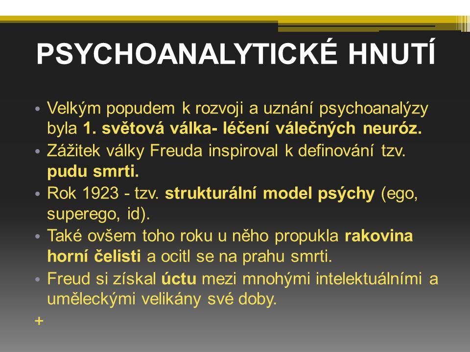 PSYCHOANALYTICKÉ HNUTÍ