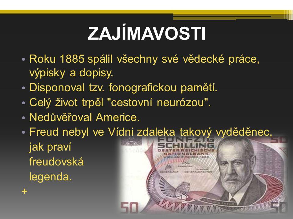 ZAJÍMAVOSTI Roku 1885 spálil všechny své vědecké práce, výpisky a dopisy. Disponoval tzv. fonografickou pamětí.