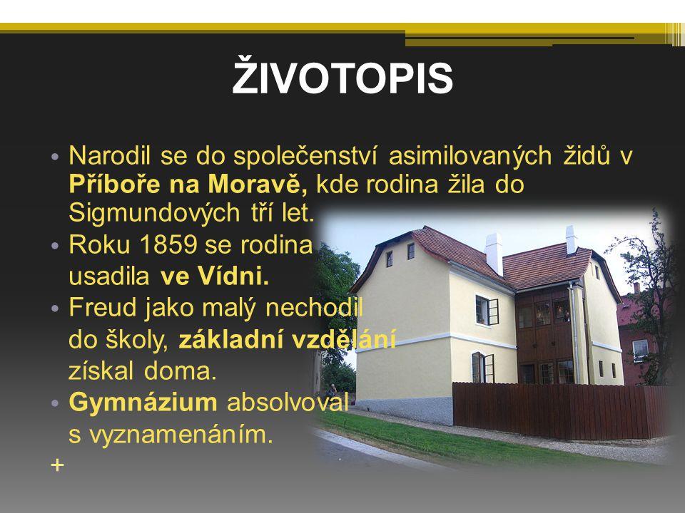 ŽIVOTOPIS Narodil se do společenství asimilovaných židů v Příboře na Moravě, kde rodina žila do Sigmundových tří let.