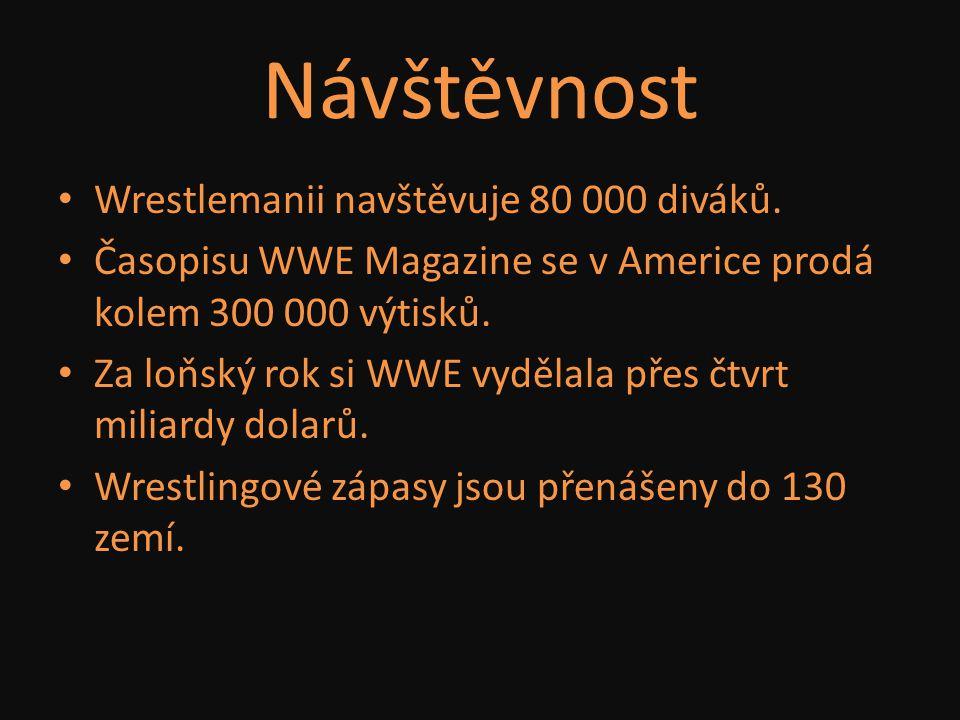 Návštěvnost Wrestlemanii navštěvuje 80 000 diváků.