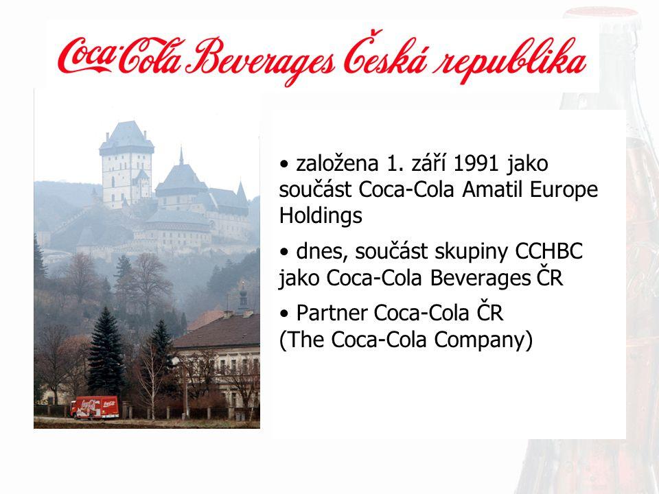 založena 1. září 1991 jako součást Coca-Cola Amatil Europe Holdings
