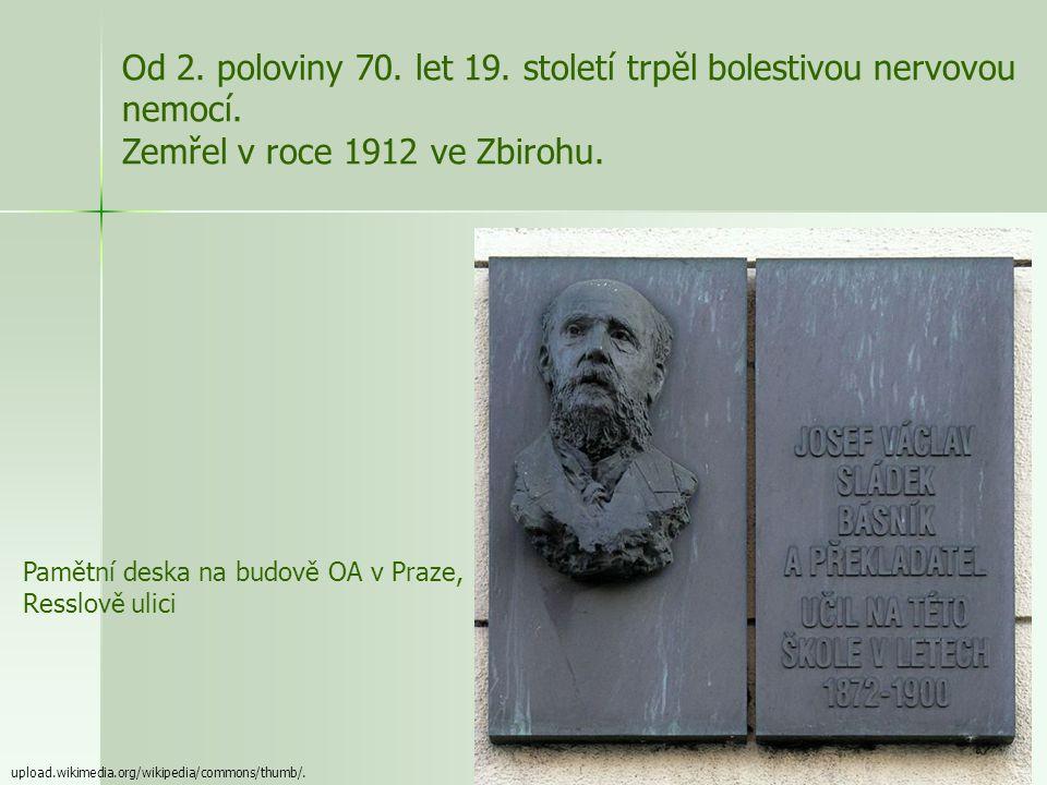 Od 2. poloviny 70. let 19. století trpěl bolestivou nervovou nemocí.